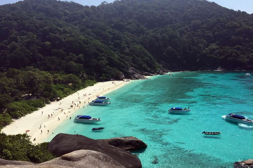 A view of the Similan Islands, located off the coast of southern Thailand.
