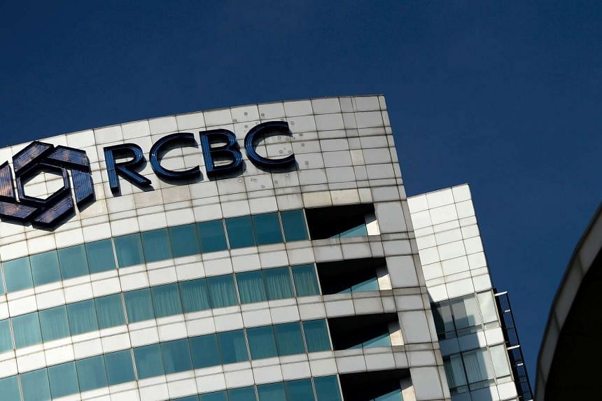 The logo of the RCBC bank at the RCBC building in Manila's financial district on March 11, 2016.