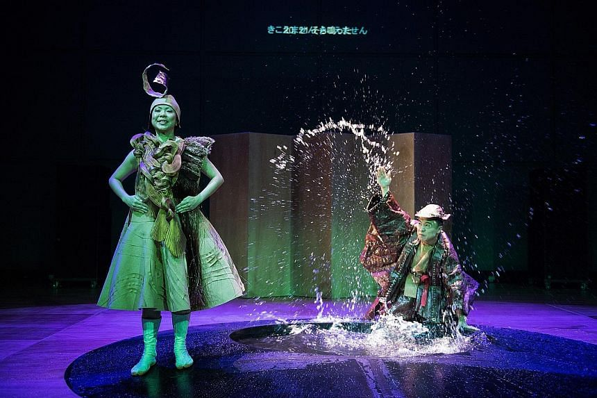 Oliver Chong and Jean Ng in Chong Tze Chien's version of the Noh-inspired drama Drums.