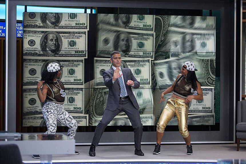George Clooney plays the host of a stock tips show on television in Money Monster.