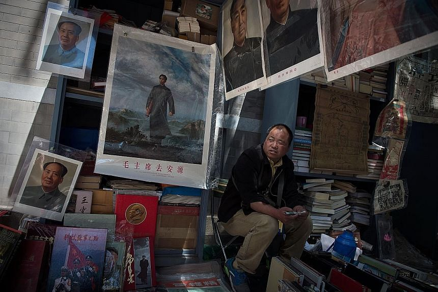 Posters and images of Mao Zedong in a Beijing market. Fifty years after the Cultural Revolution, Mao's legacy remains. The lack of literature within China chronicling the brutality of the period, and the lack of public debate, has also meant that you