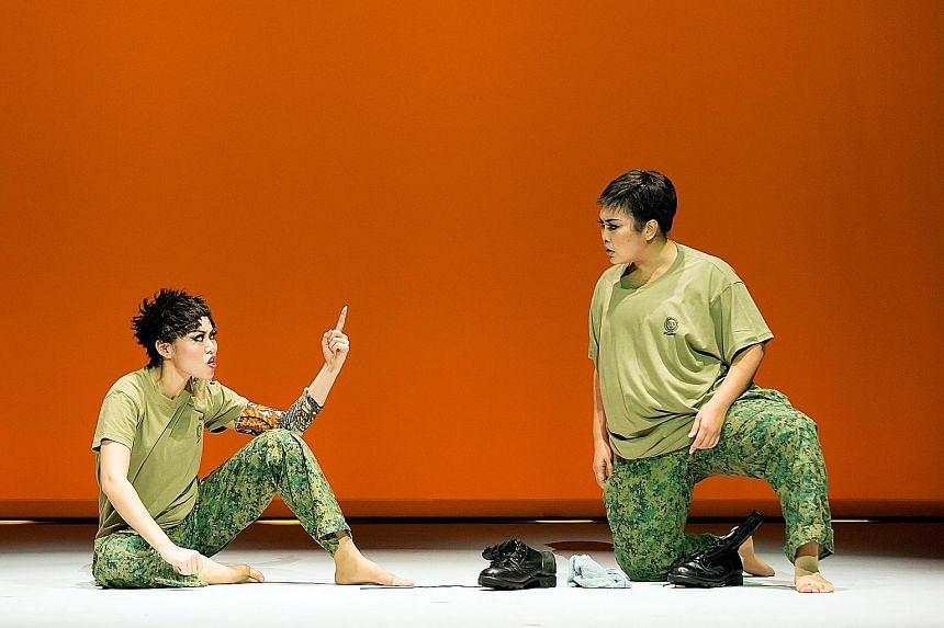 Judee Tan (left) and Siti Khalijah Zainal are brilliant in their good-natured send-ups of racial stereotypes.