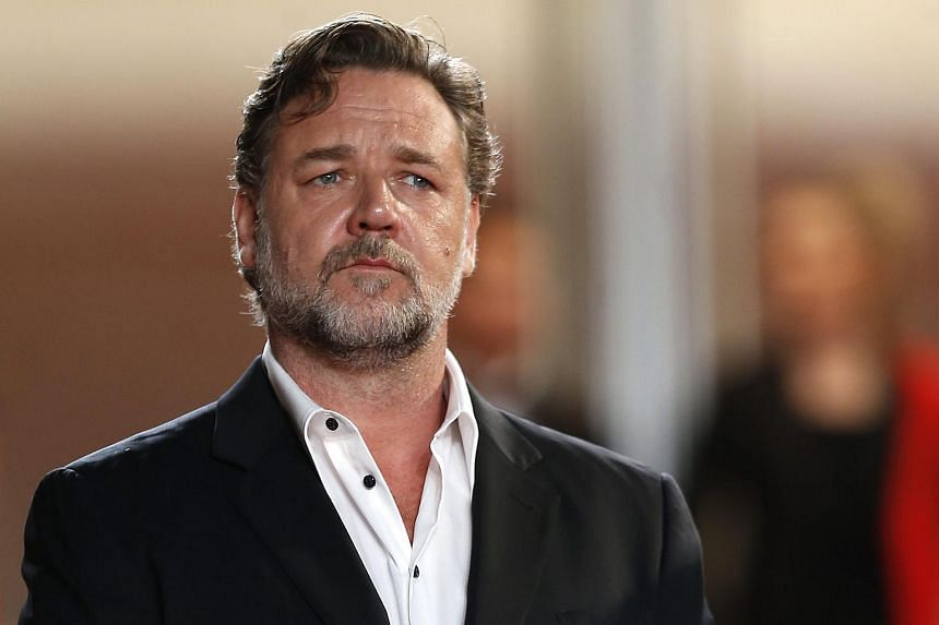 Russell Crowe arrives for the screening of The Nice Guys during the 69th annual Cannes Film Festival.