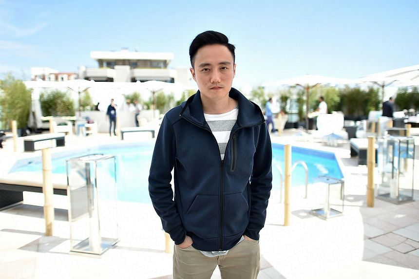 Singaporean director Boo Junfeng posing at the 69th Cannes Film Festival in Cannes, southern France on May 14, 2016.