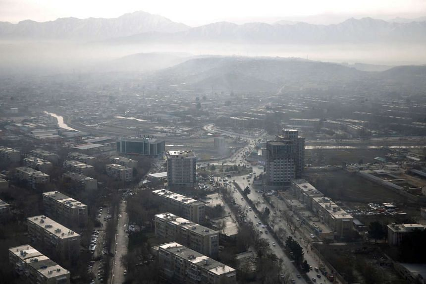 An aerial view of Kabul, Afghanistan, on Feb 11, 2016.