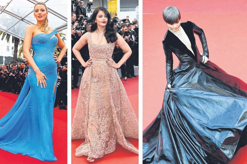 A bevy of beauties on Saturday's red carpet stole the show from Steven Spielberg and his cast. Alongside Chinese star Li Yuchun (right) who shed her tomboy looks for a black Julien Fournie dress were Hollywood's Blake Lively (far left), who showe
