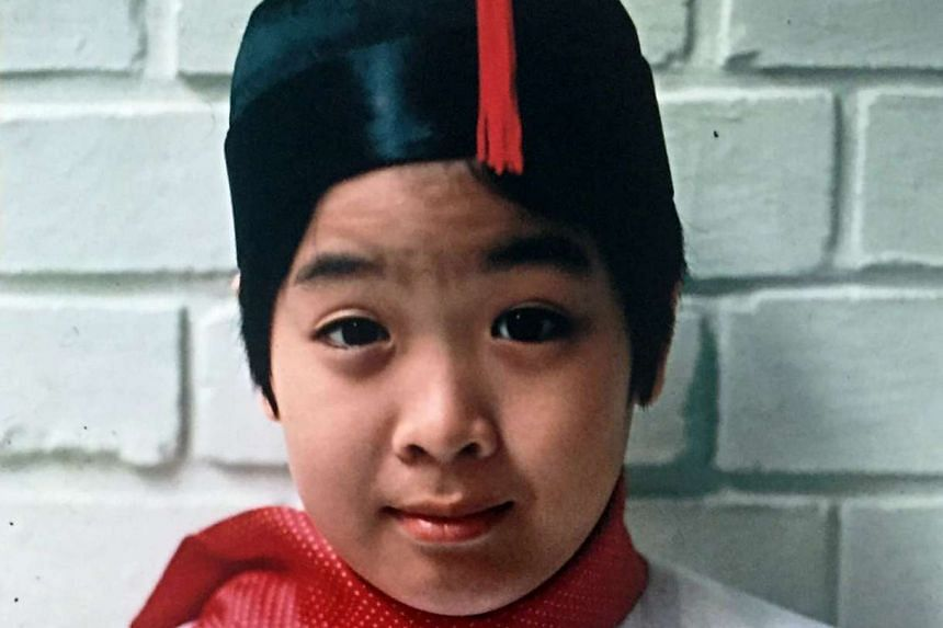 My Life So Far: Peter Lee dressed for Chinese New Year in 1975. His mother forced him to wear this costume, which she thought was cute.