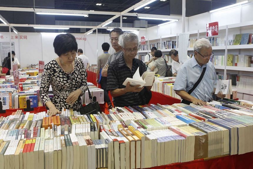 Visitors at the Singapore Book Fair 2014 held at Suntec Convention & Exhibition Centre.