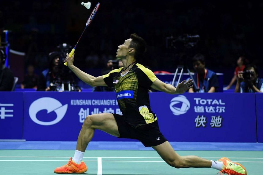 Malaysia's Lee Chong Wei hits a return against South Korea's Son Wan Ho at the Thomas Cup badminton tournament in Kunshan, on May 17, 2016.