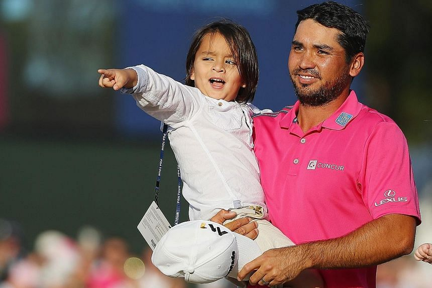 World No. 1 golfer Jason Day's three-year-old son Dash enjoying the attention as much as him after the final round of The Players Championship at TPC Sawgrass. Weekend scores 73 and 71 were enough to give the Australian a four-shot victory after open