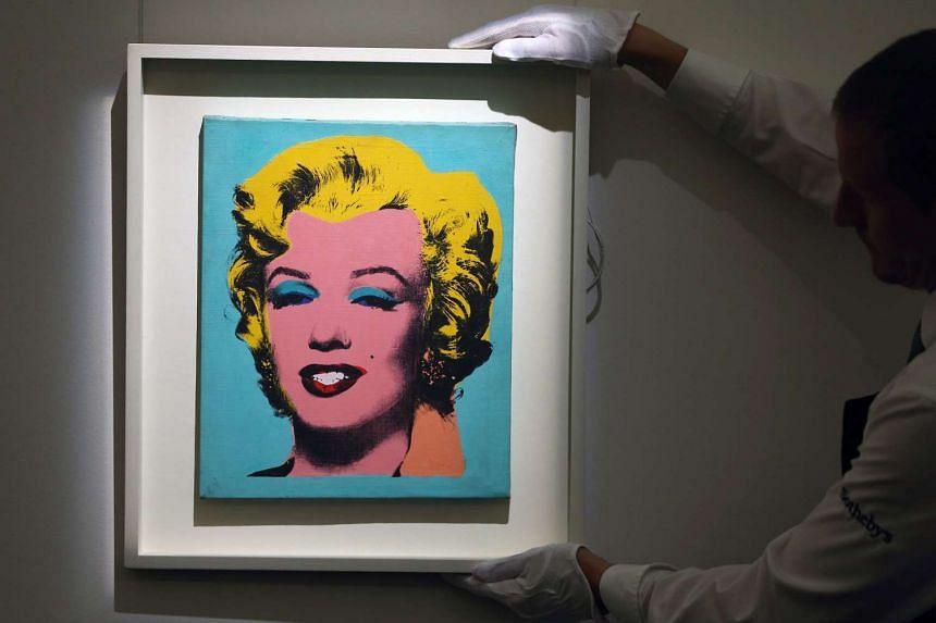 Elaine Sturtevant's work Warhol's Marilyn Monroe (1967) was presented at Sotheby's in London in April. Monroe's own personal belongings will go under the hammer.