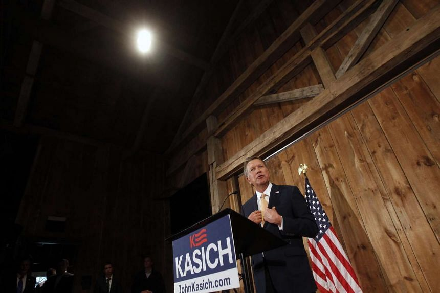 Republican presidential candidate Ohio Gov. John Kasich speaks to the media announcing he is suspending his campaign on May 4, 2016 in Columbus, Ohio.