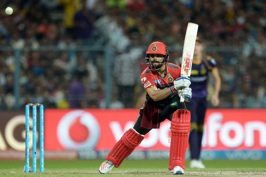 Virat Kohli plays a shot in the 2016 Indian Premier League (IPL) match between Kolkata Knight Riders and Royal Challengers Bangalore, on May 16, 2016.