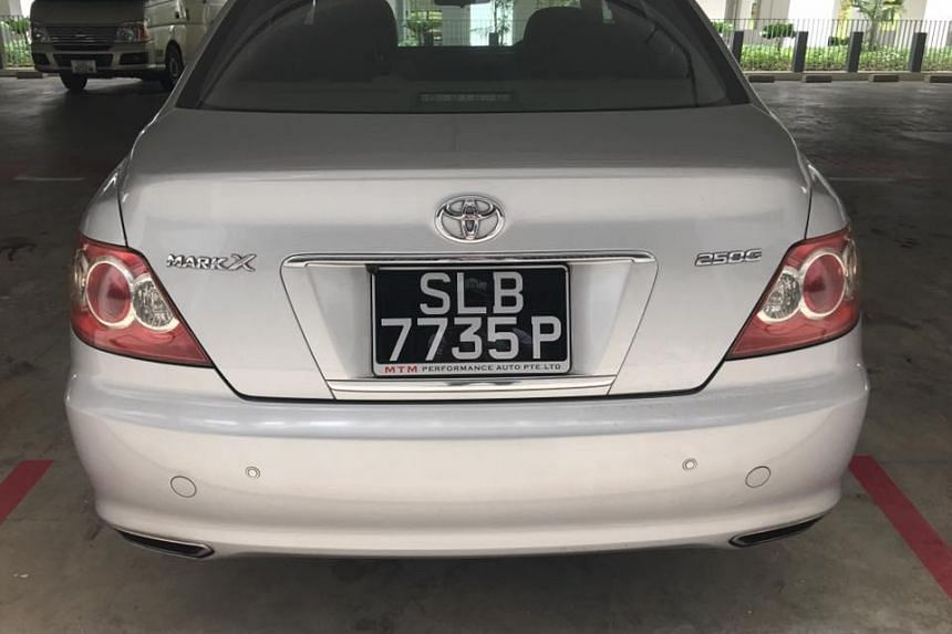 Voices for Animals president Derrick Tan's car which was stolen along with his wallet, passport and personal belongings he had left in the vehicle.