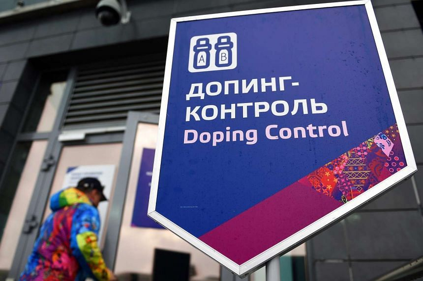 The Doping Control Station in the Laura Biathlon Center during the Sochi 2014 Olympic Games in Russia.
