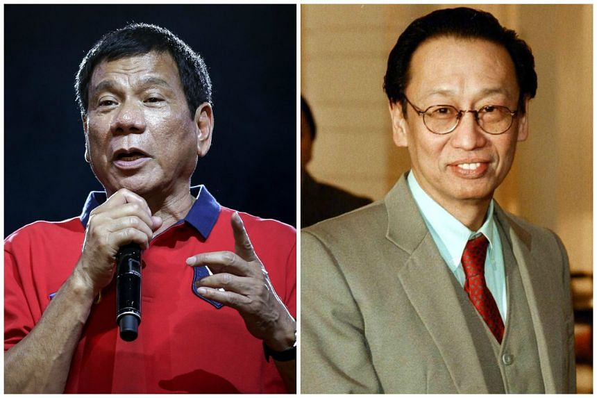 Rodrigo Duterte offered a portfolio to exiled CPP founder Jose Maria Sison (right), who welcomed the olive branch but said he would decline a post for himself.