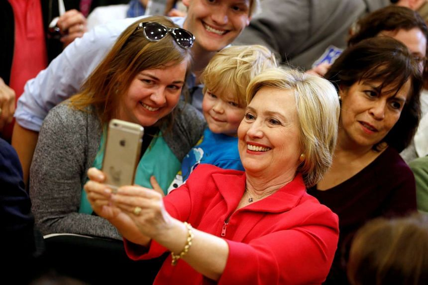 US Democratic presidential candidate Hillary Clinton greets supporters at Transylvania University in Kentucky, on May 16, 2016.