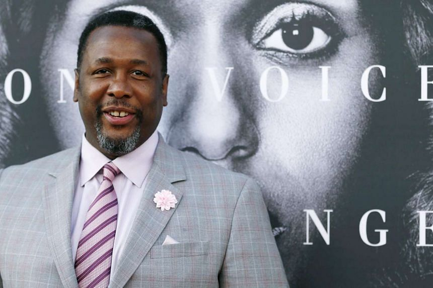 Wendell Pierce posing at the premiere for the television movie Confirmation in Los Angeles, California, on March 31, 2016.