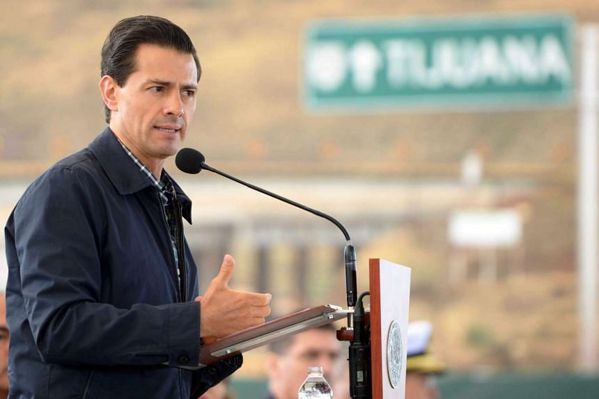 Mexican President Enrique Pena Nieto speaks during an event at Rosarito Beach, Baja California, Mexico, on May 9, 2016.