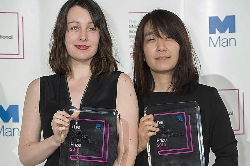 South Korean author Han Kang (right) and British translator Deborah Smith (left) won the Man Booker International Prize 2016 with The Vegetarian.