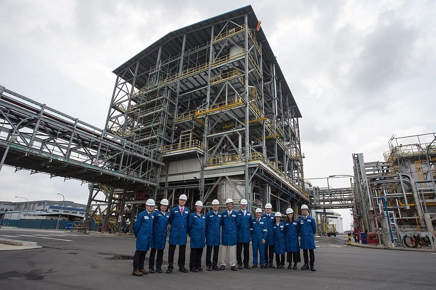 Afton Chemical Corporation staff at the newly-built manufacturing plant on Jurong Island. The plant is central to the US firm's plans for expansion in the Asia-Pacific, said company president Rob Shama.