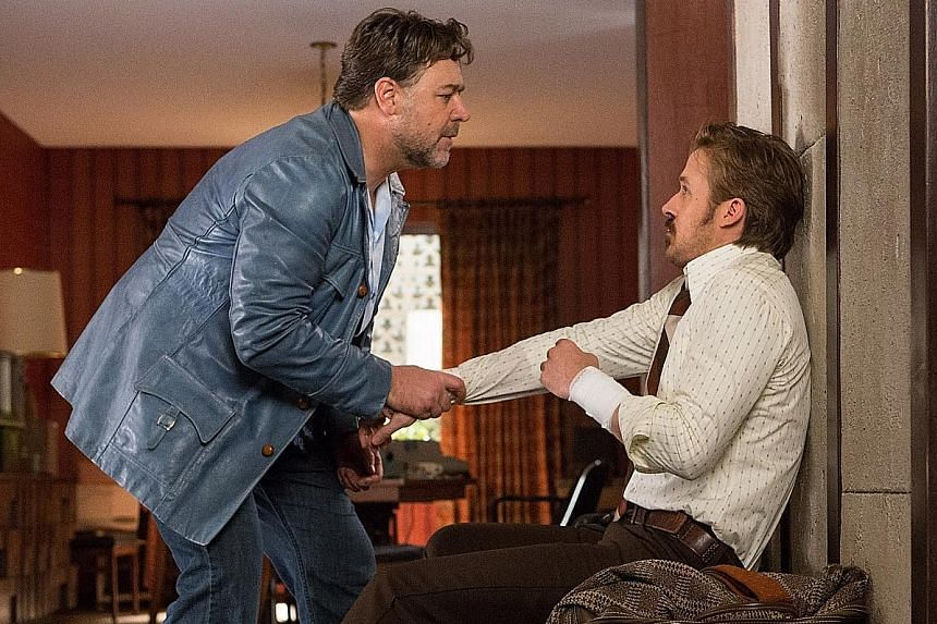 Russell Crowe (left) and Ryan Gosling pair up in The Nice Guys.