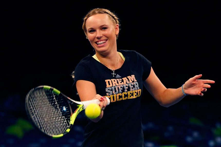 Caroline Wozniacki (above, in a file photo) is reported to have an ankle injury.