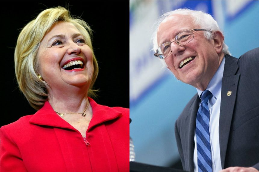 Democratic presidential candidates Hillary Clinton (left) and Bernie Sanders.