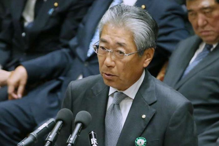 Japanese Olympic Committee president Tsunekazu Takeda during the lower house budget committee at the parliament in Tokyo on May 16, 2016.