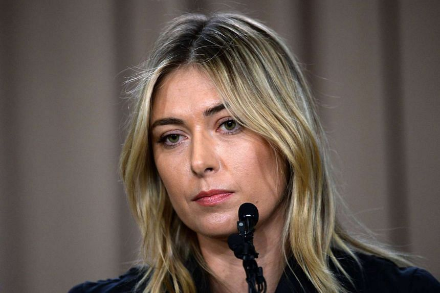 Maria Sharapova addresses the media regarding a failed drug test at the Australian Open at The LA Hotel Downtown on March 7, 2016.