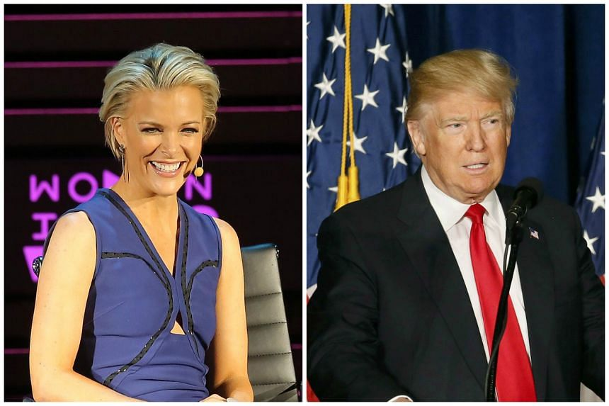 Donald Trump (right) has reportedly made peace with television news star Megyn Kelly on March 17, 2016.