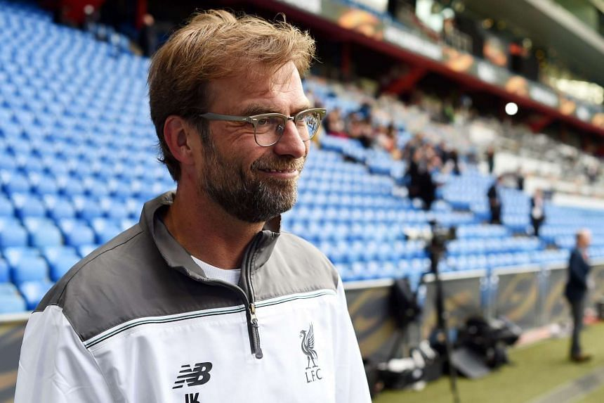 Klopp attends a training session of his team on May 17, 2016.