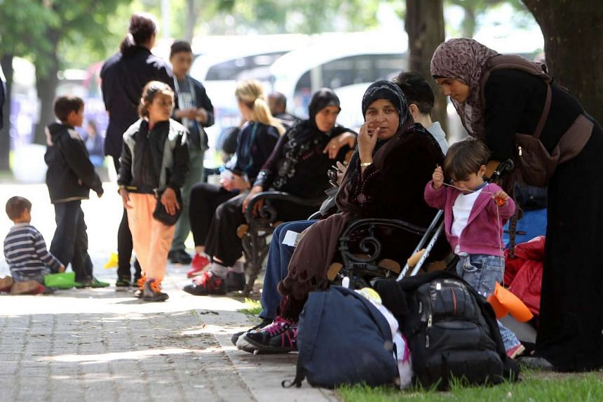 Migrants on their way to European Union countries, passing through Belgrade, Serbia, May 9, 2016.