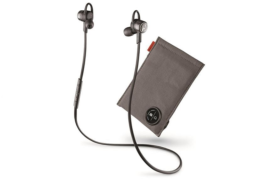 The Plantronics BackBeat Go 3 wireless headphones can last up to 6.5 hours on a single charge.