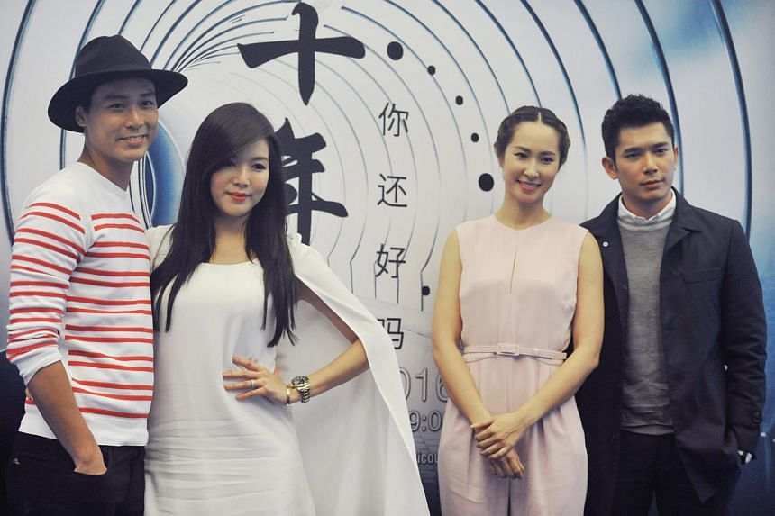 The cast of the new Channel 8 drama If Only I Could, pose during the press conference.