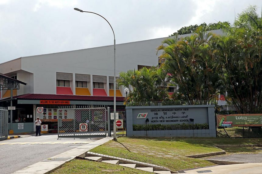 The entrance of North View Secondary School.