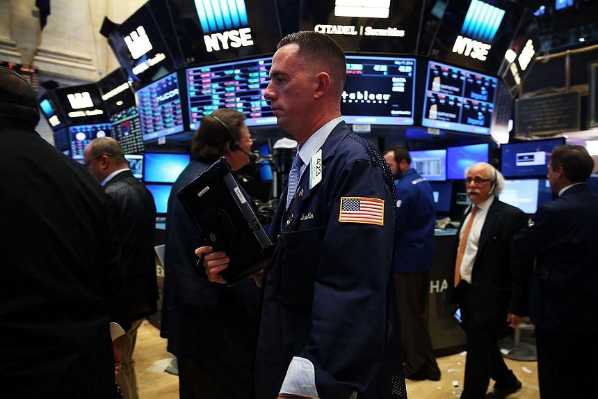 Traders working on the floor of the New York Stock Exchange (NYSE) on May 17, 2016.