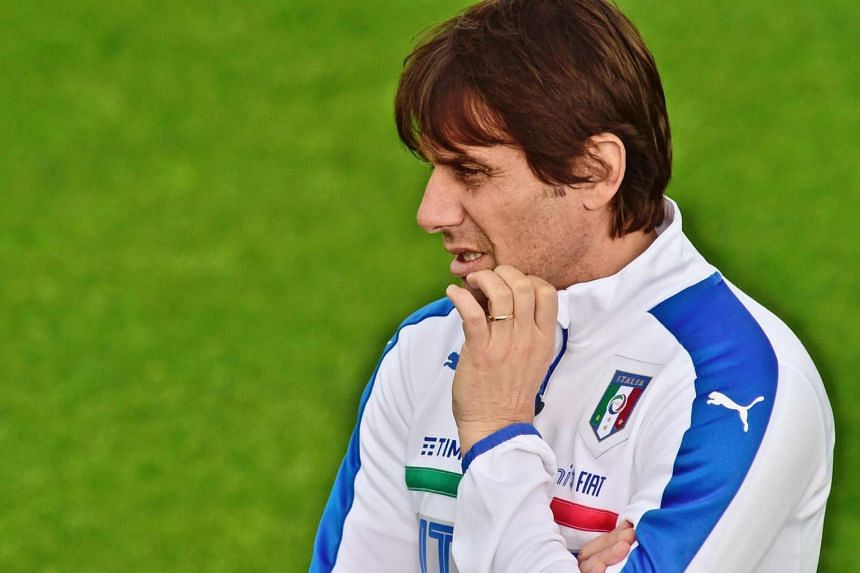 Italy's head coach Antonio Conte during a training session of Italian national soccer team in Italy, on May 18, 2016.