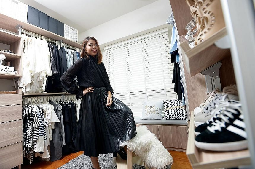 Fashion stylist and retail manager Masturah Khalid goes for outfits with simple lines and accents them with statement pieces.