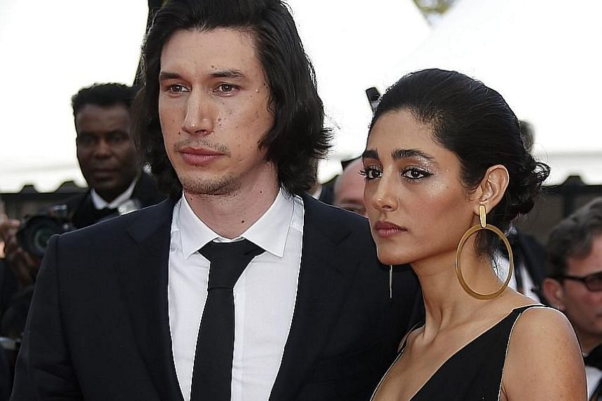 Adam Driver and Golshifteh Farahani at the screening of Paterson in Cannes.