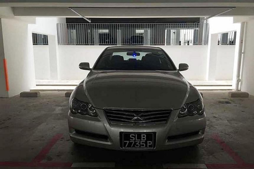 Mr Tan (above) found his second-hand Toyota Mark X (right) missing after going for a massage in Johor Baru on Monday night with his friends. He said Malaysian police told him it is common for thieves to steal this particular car model.