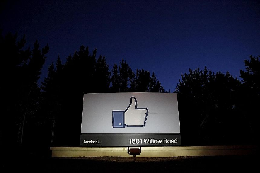 The entrance sign to Facebook's headquarters in Menlo Park, California, where the meeting will be held. A report in Gizmodo last week alleged that stories in Facebook's trending news lean towards the left.