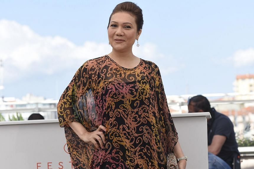 Actress Mastura Ahmad at the photocall at the Cannes Film Festival.