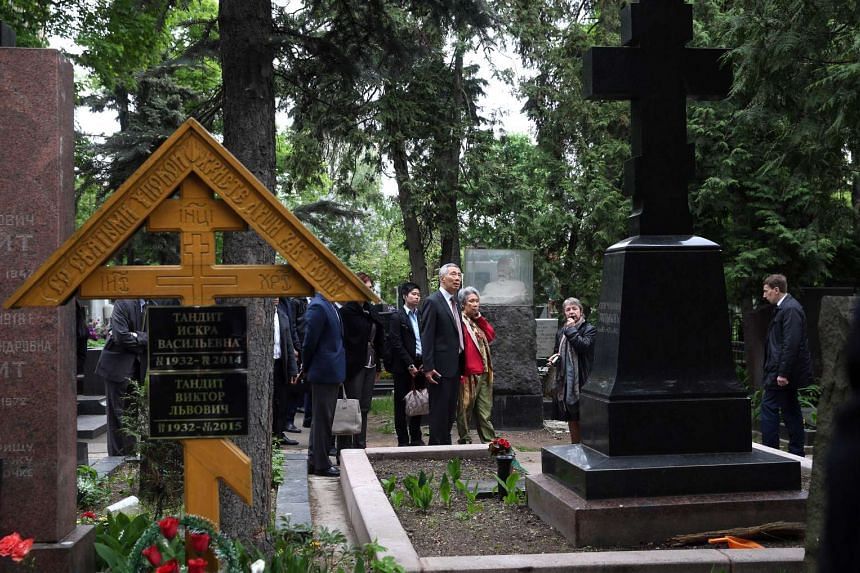 PM Lee Hsien Loong and Mrs Lee visits Novodevichy Convent and Novodevichy Cemetery.