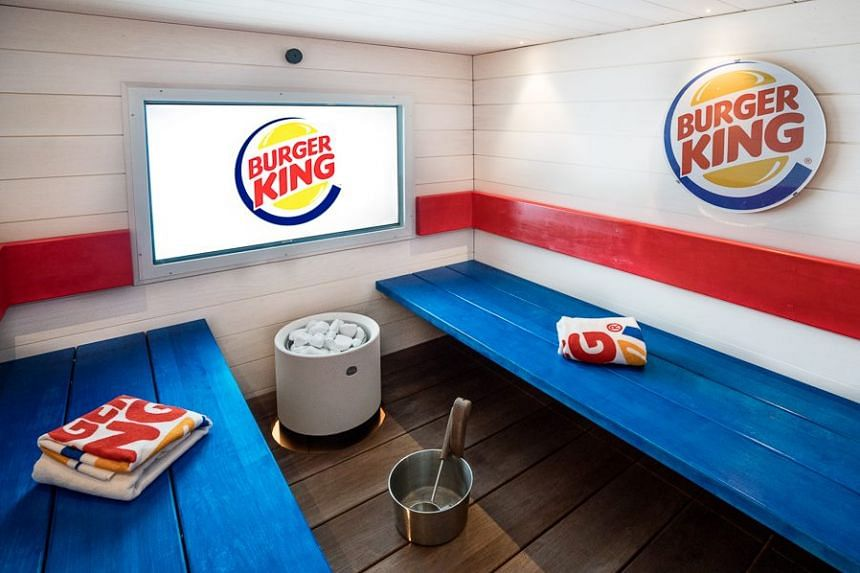 Customers can enjoy a steamy relaxing sauna session while chomping on a scrumptious Whopper at the same time.
