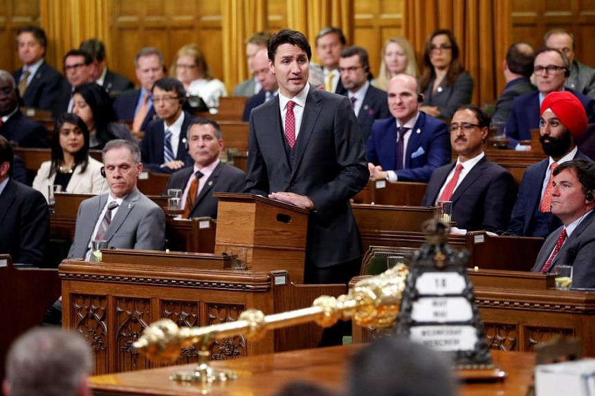 Canada's Prime Minister Justin Trudeau delivers a formal apology for the Komagata Maru incident in the House of Commons on Parliament Hill in Ottawa, Canada, May 18, 2016.