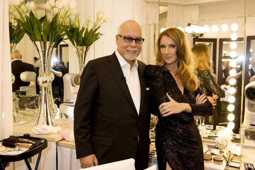 Celine Dion (right) and her former manager-husband Rene Angelil.