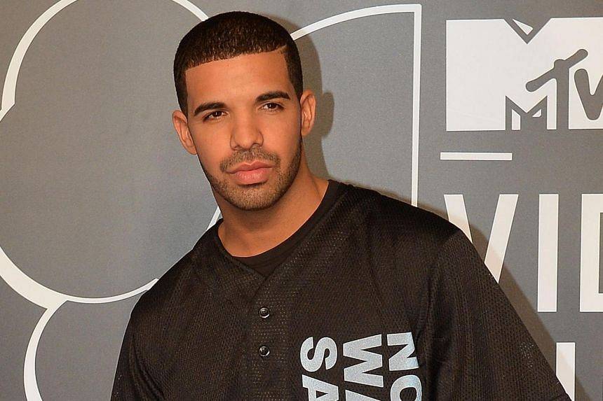 Drake arriving at the MTV Video Music Awards at the Barclays Centre in New York.