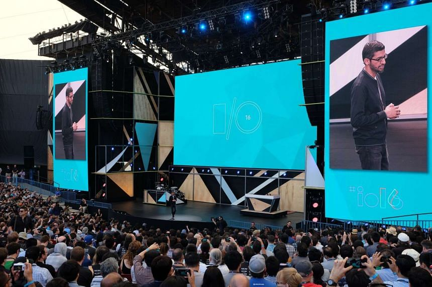 Google chief executive Sundar Pichai, speaking at the keynote address at the Google I/O 2016 developer conference.
