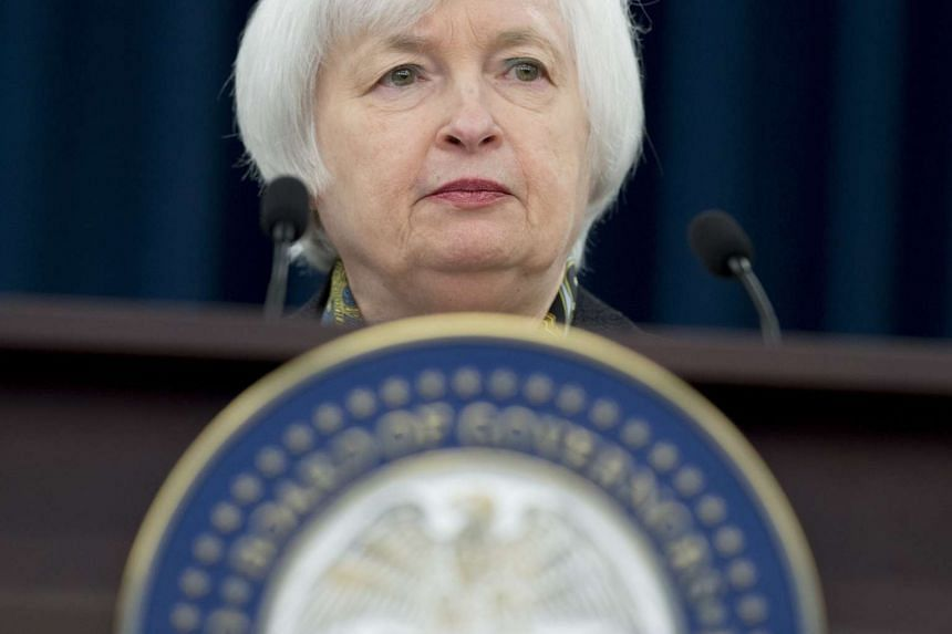 Federal Reserve chairman Janet Yellen at a press conference in March 2016.